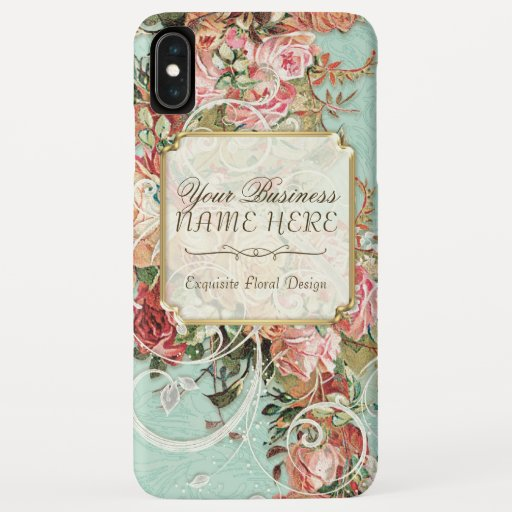 Vintage Antique Roses Floral Bouquet Modern Swirls iPhone XS Max Case