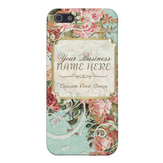 Vintage Antique Roses Floral Bouquet Modern Swirls Cover For iPhone SE/5/5s