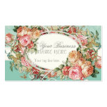 Vintage Antique Roses Floral Bouquet Modern Swirls Double-Sided Standard Business Cards (Pack Of 100)