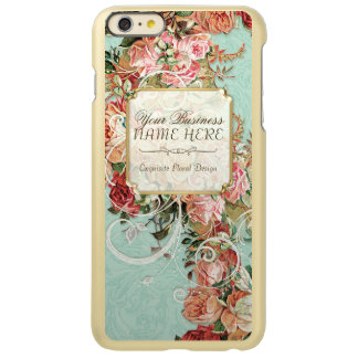 Vintage Antique Roses Floral Bouquet Modern Swirls Incipio Feather Shine iPhone 6 Plus Case
