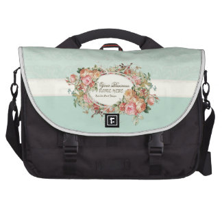 Vintage Antique Roses Floral Bouquet Modern Swirls Bag For Laptop