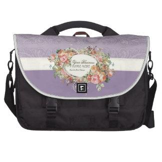 Vintage Antique Roses Floral Bouquet Modern Swirls Bags For Laptop