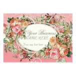 Vintage Antique Roses Floral Bouquet Modern Swirls Large Business Card