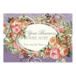 Vintage Antique Roses Floral Bouquet Modern Swirls Large Business Cards (Pack Of 100)