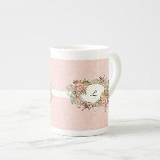Vintage Antique Roses Floral Bouquet Modern Swirls Tea Cup