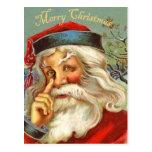 Vintage Antique Santa Christmas Postcard