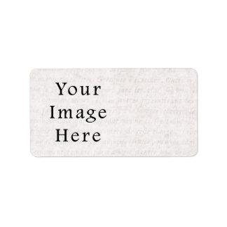 Vintage Antique Script Parchment Paper Background Label