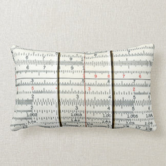 Vintage Antique Slide Rule Close-Up Lumbar Pillow