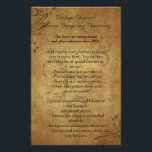 """Vintage Antique Swirl Flyer or Program<br><div class=""""desc"""">Use this 2-sided flyer for a Business Advertisement or Wedding Menu or Program Celebrate a vintage wedding theme with this elegant Antique Teastain style. Features sepia and antique brown tones with weathered, distressed paper look, and soft brown and chocolate swirls in the background. To add even more authenticity, use an...</div>"""