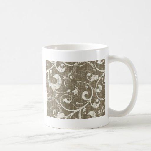 Vintage Antique Swirls Cream Classic White Coffee Mug