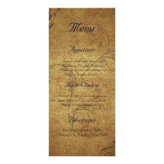 Vintage Antique Teastain Custom Menu Rack Card