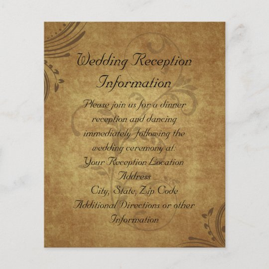 Vintage Antique Teastain Swirl Reception Map Zazzle Com