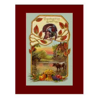 Vintage Antique Thanksgiving Greetings Postcard