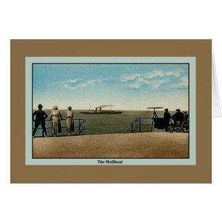 Vintage antique The Mailboat on the North Sea Card