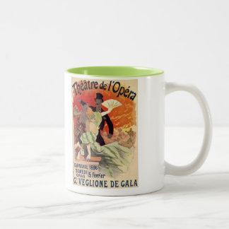 Vintage Antique Theatre Opera Carnaval Two-Tone Coffee Mug