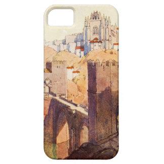 Vintage Antique Toledo Landscape Watercolor iPhone 5 Covers