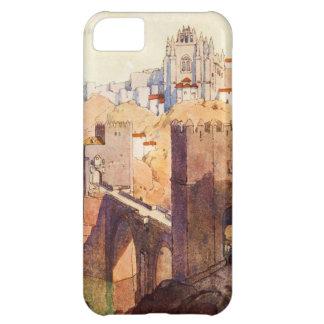 Vintage Antique Toledo Landscape Watercolor iPhone 5C Covers