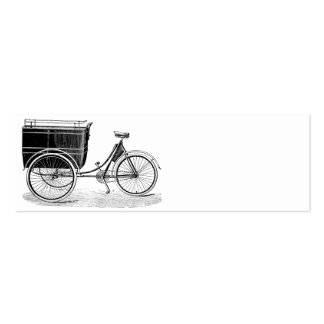 Vintage Antique Tricycle Mini Business Card