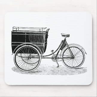 Vintage Antique Tricycle Mouse Pad