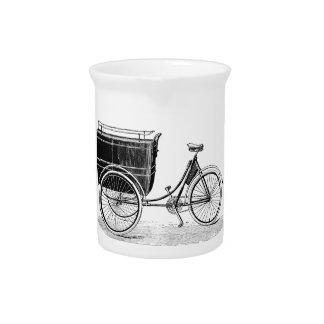 Vintage Antique Tricycle Beverage Pitchers