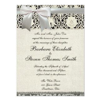 Vintage Antique Wedding Invitation
