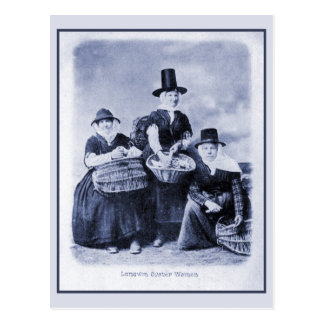 Vintage antique Welsh Oyster women Postcard