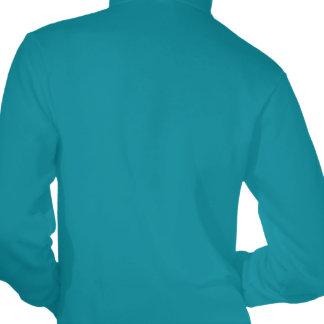 Vintage Antique White Anchor Turquoise Background Hooded Sweatshirt