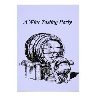 Vintage Antique Wine Barrel Tasting Invitations