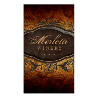Vintage Antique Wine Leaves Business Card Templates