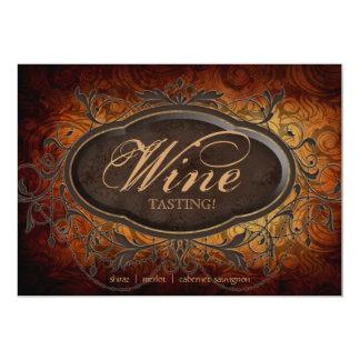 Vintage Antique Wine Party Tasting Leaf Card
