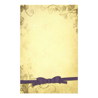 Vintage Antique With Bow Wedding Custom Stationery