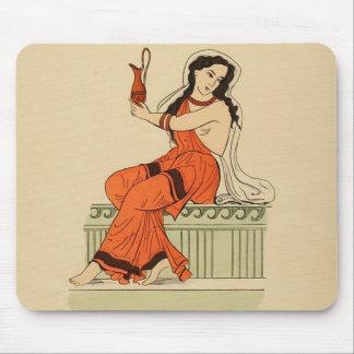 Vintage Antique Woman Ancient Greece Mouse Pad
