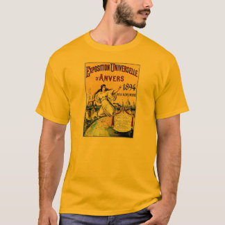Vintage antique world expo Antwerp 1894 T-Shirt