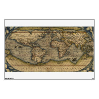 Vintage Antique World Map Atlas Wall Decal