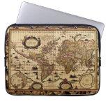 Vintage Antique World Map Design Laptop Computer Sleeve
