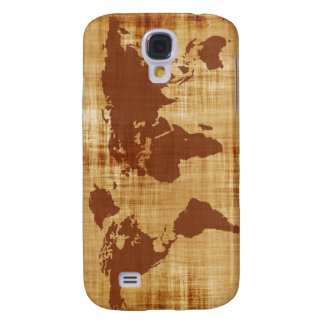 Vintage Antique World Map Montage Samsung Galaxy S4 Cover