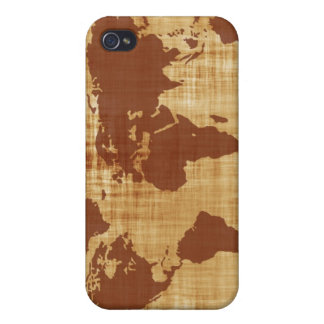 Vintage Antique World Map Montage Case For iPhone 4