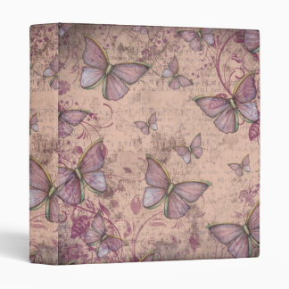 Vintage Antiqued Butterflies Binder
