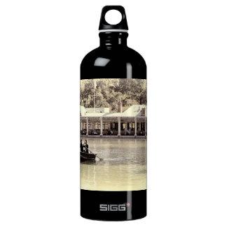 Vintage Antiqued Rowboat Photo of Central Park Aluminum Water Bottle