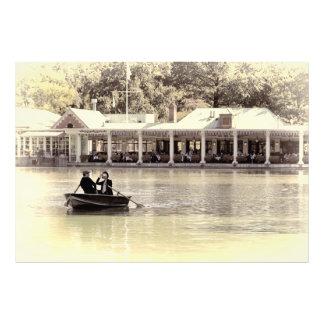 Vintage Antiqued Rowboat Photo of Central Park