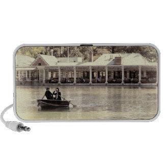 Vintage Antiqued Rowboat Photo of Central Park Mp3 Speaker