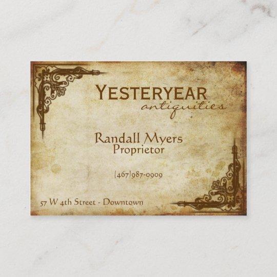 Vintage Antiques Victorian Business Card Zazzle Com