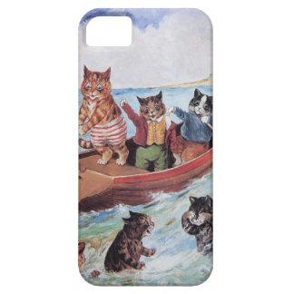 Vintage antropomorfo divertido Wain de los gatos iPhone 5 Fundas
