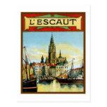 Vintage Antwerp port view advertising Post Cards