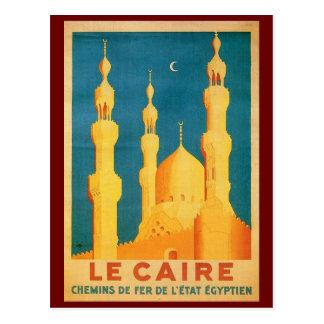 Vintage anuncio del viaje de El Cairo, Egipto Tarjeta Postal