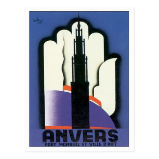 Vintage Anvers Antwerp Post Card