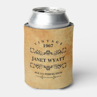 Vintage Any Age Birthday Can Cooler
