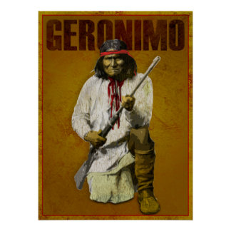 Vintage Apache Indian - Geronimo Poster