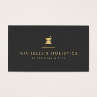 Vintage Apothecary Holistic Medicine Gold/Black Business Card