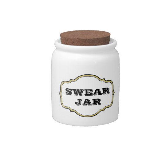 Vintage Apothecary Label Swear Jar Candy Dishes